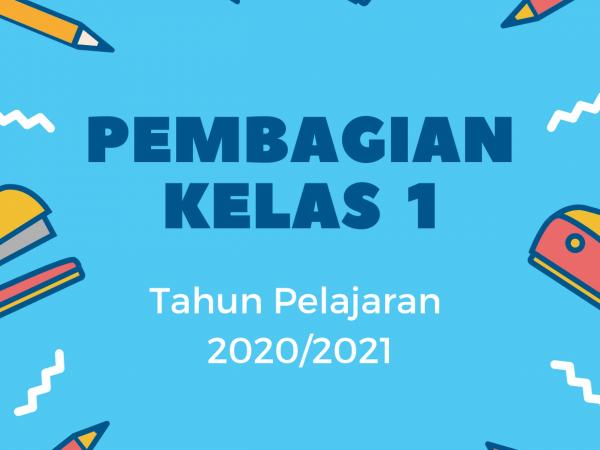 Pembagian Kelas 1 Tahun Pelajaran 2020/2021