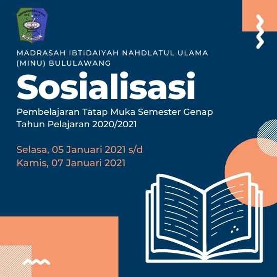 Undangan Sosialisasi Pembelajaran Semester Genap Tahun Pelajaran 2020/2021
